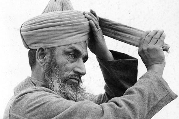 A Sikh member of the Indian Army Services Corps at Dunkirk, 1940