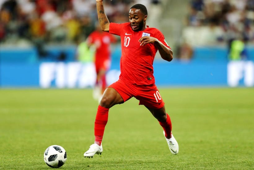 Raheem Sterling in the England World Cup game against Tunisia