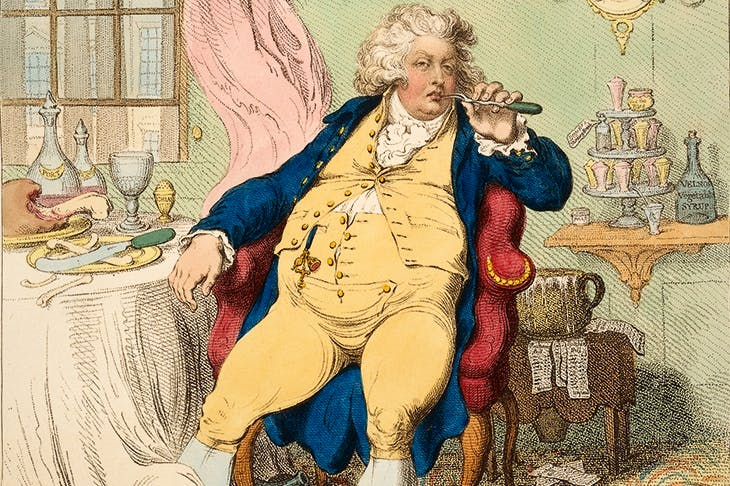 'A Voluptuary under the horrors of Digestion', 1792, by James Gillray