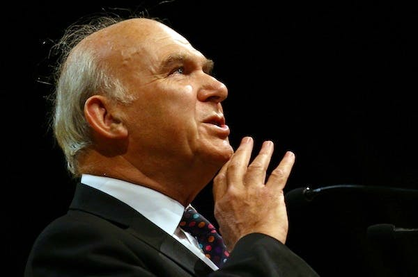 Vince Cable will today announce changes to employment regulation designed to kickstart growth. Picture: Getty.