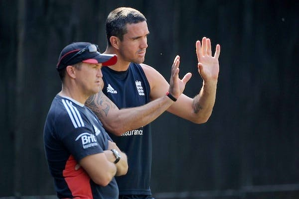 Andy Flower left Kevin Pietersen out of the England squad for the team's tour of India following the cricketer's text messages about former captain Andrew Strauss. Picture: Getty.