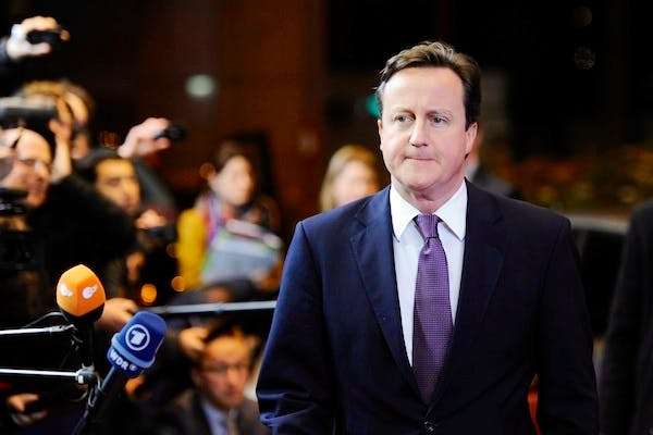 David Cameron in Brussels for the summit last December where he wielded Britain's 'veto' of a new treaty. Picture: Getty.