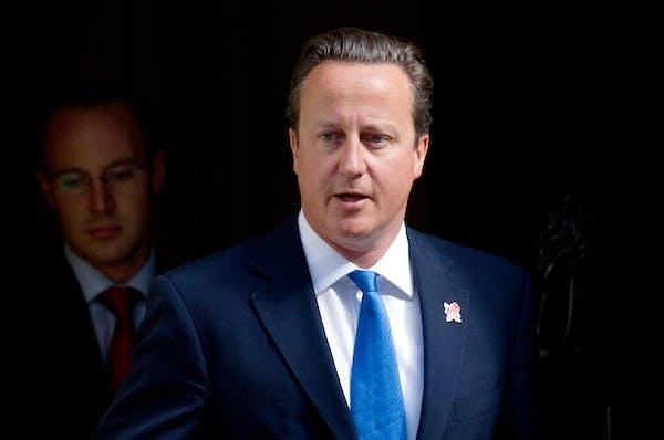 David Cameron on reshuffle day. Picture: Getty.