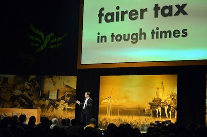 This evening's Lib Dem conference rally. Picture: Getty.