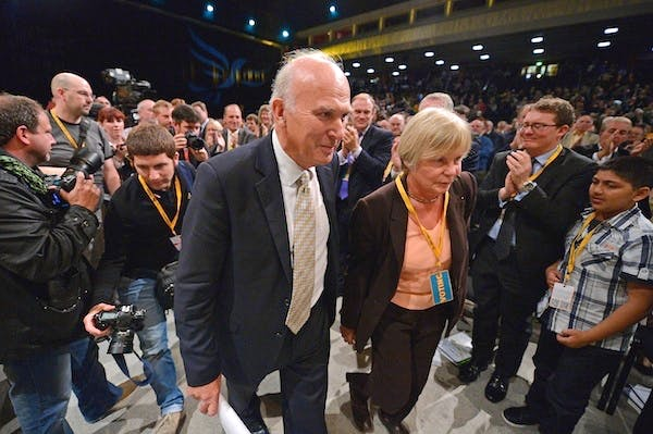 Vince Cable after his speech to the Liberal Democrat conference. Picture: Getty.