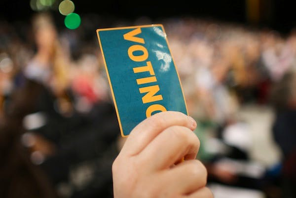 Party members vote at the Liberal Democrat conference. Picture: Getty.