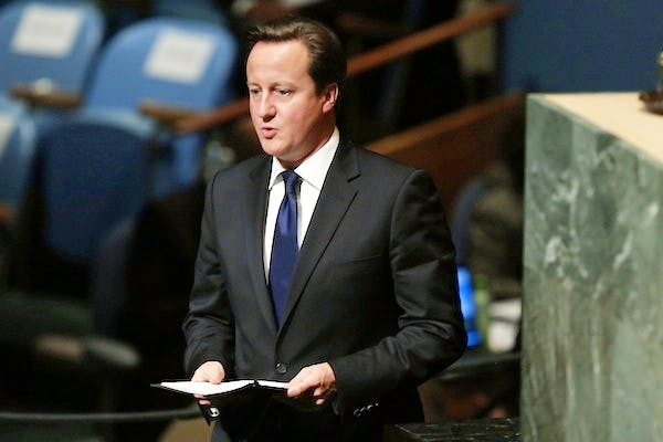 David Cameron addresses the UN General Assembly. Picture: Getty