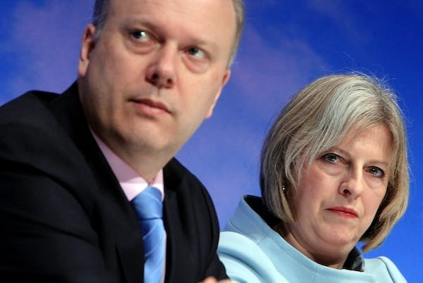 Chris Grayling and Theresa May are unlikely to row over cats and human rights at this year's Conservative party conference. Picture: Getty.