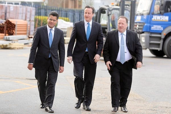 Alok Sharma on the campaign trail with David Cameron. Picture: Getty.