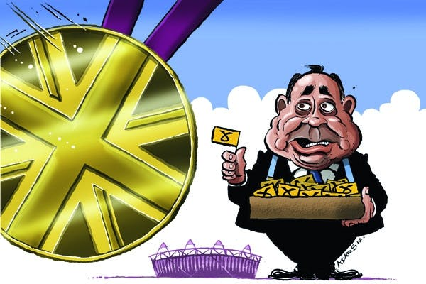 Alex Salmond was booed yesterday by a crowd in Glasgow. Picture: Getty.