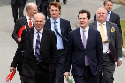 Vince Cable appears to be lobbying his colleague the Chancellor in public for a mansion tax which George Osborne has already ruled out. Picture: Getty
