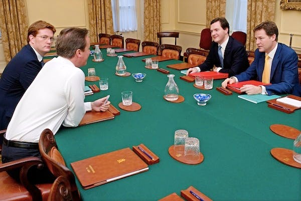 Members of the Quad meet up. The Lib Dems appear to have resigned themselves to agreeing to further welfare cuts. Picture: Getty