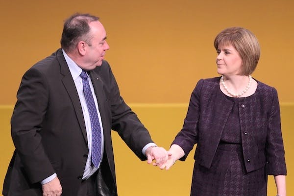Alex Salmond and Nicola Sturgeon. The SNP today suffered two major setbacks. Picture: Getty