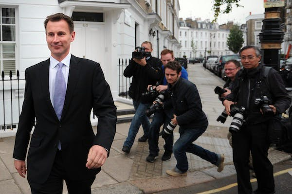 Jeremy Hunt said his experience of the fallout from the BSkyB bid was like 'being accused of a murder that you hadn't committed'. Picture: Getty.