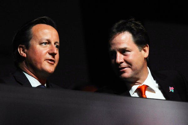Nick Clegg's Liberal Democrats were conspicuous by their absence in David Cameron's speech today. Picture: Getty