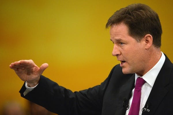 Nick Clegg today rejected the idea that the Lib Dems might accept the boundary changes in return for state funding of political parties. Picture: Getty