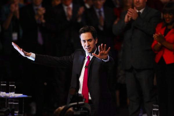 Ed Miliband delivered his entire speech to the Labour party conference without notes. Picture: Getty