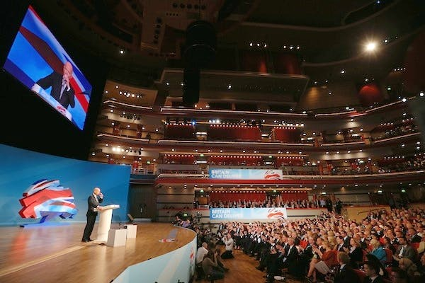 William Hague addressed the Conservative party conference this afternoon. Picture: Getty.