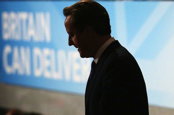 David Cameron will present a stark vision of the challenge facing Britain today. Picture: Getty