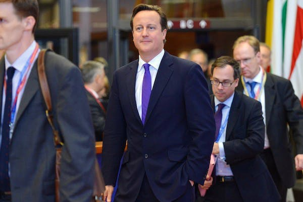 David Cameron in Brussels for today's EU summit. Picture: Getty