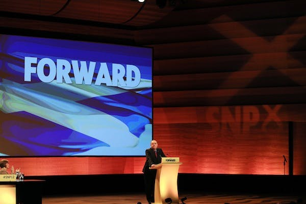 Alex Salmond speaks at the SNP annual conference. Picture: Getty