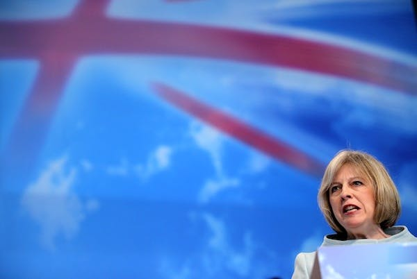 Theresa May today announced government plans to opt-out of 130 EU law and order measures. Picture: Getty