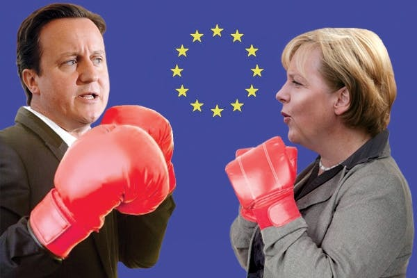 Angela Merkel is currently threatening to cancel the European budget summit if David Cameron threatens to veto every deal on the table. Picture: Carla Millar