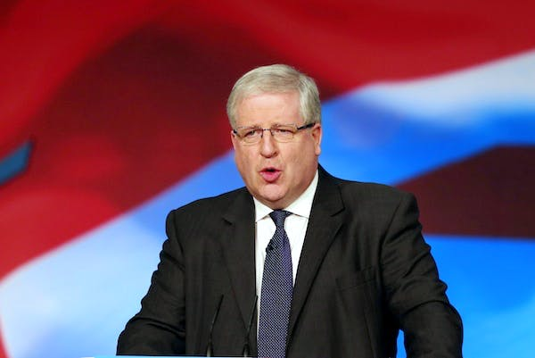 New Transport Secretary Patrick McLoughlin addressed the Conservative party conference this morning. Picture: Press Association