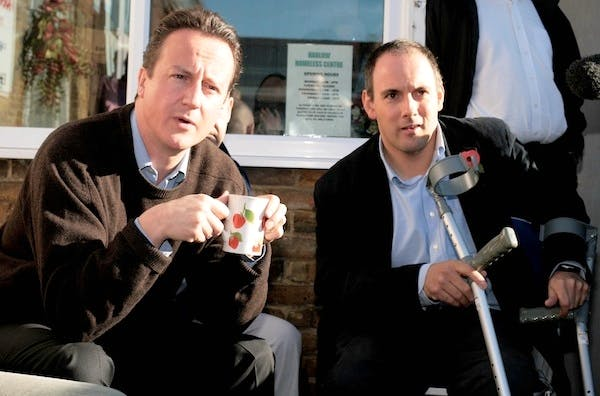 Robert Halfon with David Cameron. Picture: Press Association