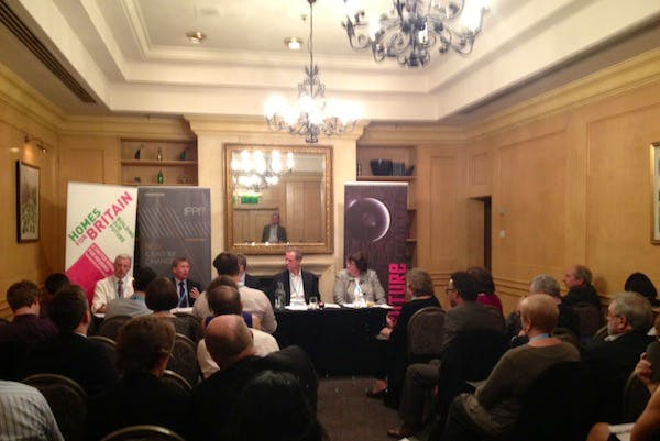 Planning Minister Nick Boles at the IPPR fringe event this evening.
