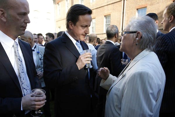 David Cameron at a gay pride reception in Downing Street. Picture: Getty