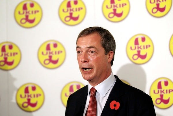 UKIP leader Nigel Farage has attacked Rotherham Council's decision to remove children from their UKIP-voting foster parents. Picture: Getty