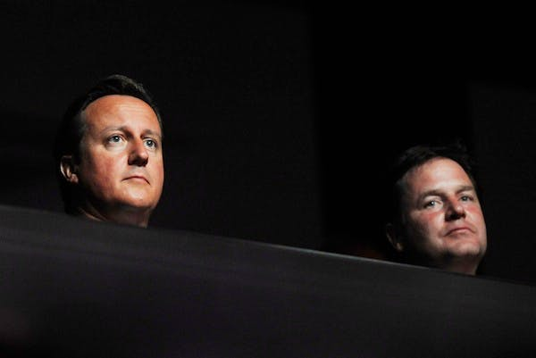 Nick Clegg and David Cameron are locked in a stalemate over the boundary reforms. Picture: Getty