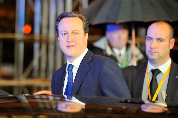 David Cameron at last week's EU budget summit. The Prime Minister today gave a statement on the talks to MPs. Picture: Getty