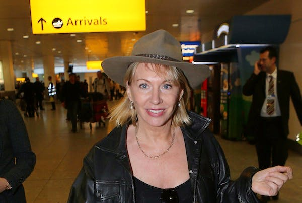 Nadine Dorries arrives at Heathrow after her appearance on 'I'm a Celebrity'. Picture: PA
