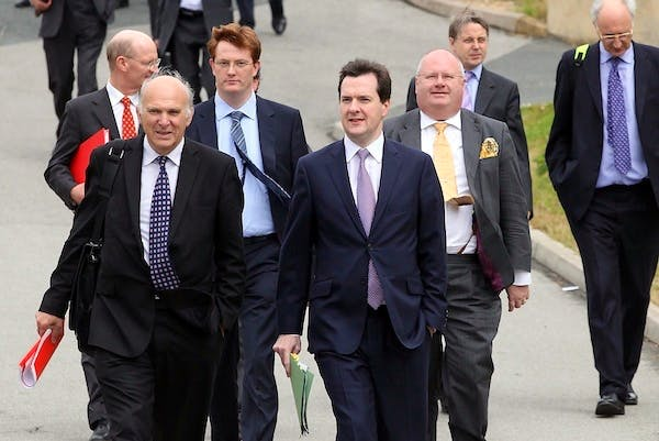 Vince Cable and George Osborne are wary of unpicking the consensus around Vickers. Picture: Getty