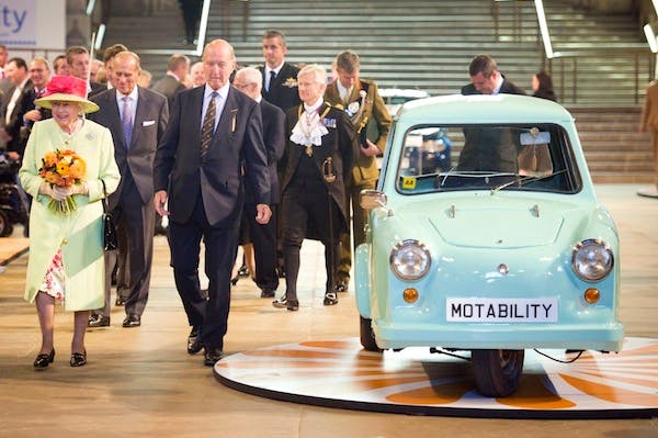 The Queen attends a Motability event in Westminster Hall. Peers may revolt over changes in eligibility rules for Motability cars. Picture: Getty