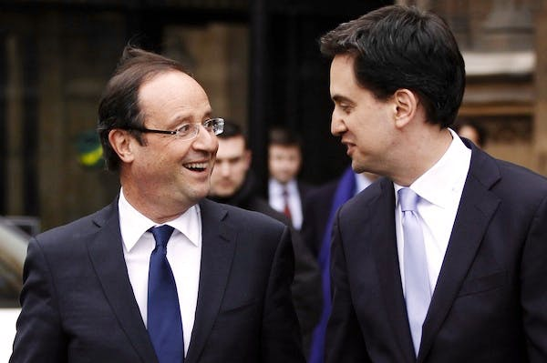 Ed Miliband welcomed François Hollande with open arms when he visited London in February. Picture: Getty