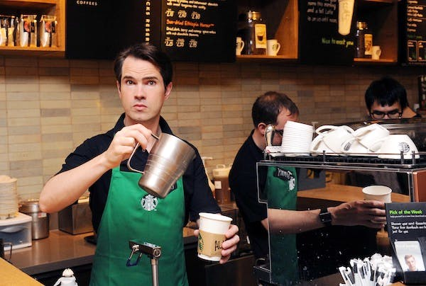 Jimmy Carr, another figure to face public wrath over his tax affairs, at a launch in a Starbucks in 2012. Picture: Getty