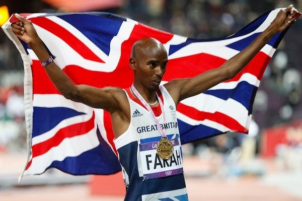 Mo Farah makes yet another appearance in a politician's speech today: this time Ed Miliband will mention him. Picture: Getty