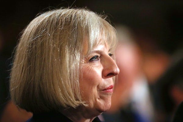 Theresa May today defended the government's Communications Data Bill. Picture: Getty