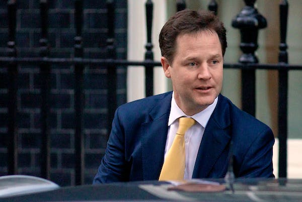 Nick Clegg leaves for Parliament on the day Leveson reported to make his own statement on the Inquiry's findings. Picture: Getty