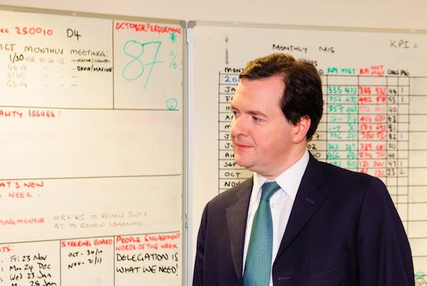 George Osborne has to persuade voters that the Conservatives are the ones to trust on the economy, and his colleagues that they should back him, too. Picture: Getty