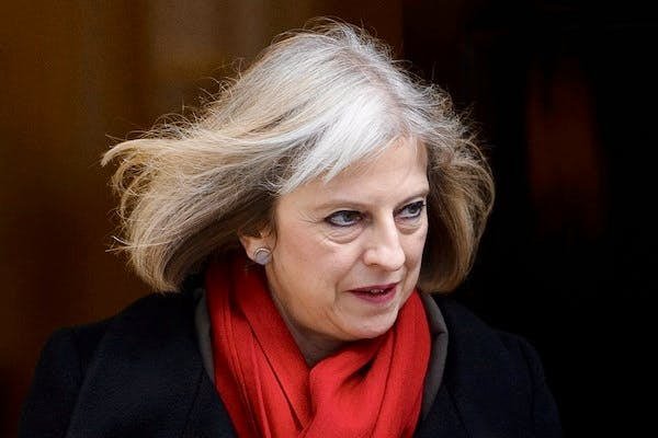 Theresa May attacked critics of the Communications Data Bill yesterday. Picture: Getty