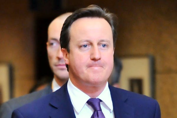 David Cameron leaving the Brussels summit where he exercised his 'veto' in 2011. Picture: Getty