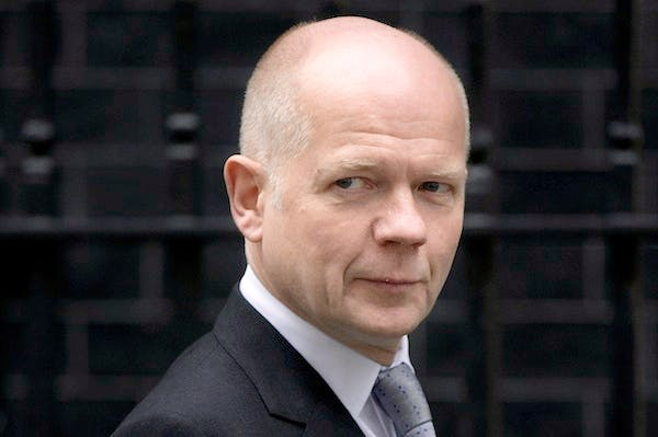 William Hague led this afternoon's Commons debate on Europe. Picture: Getty