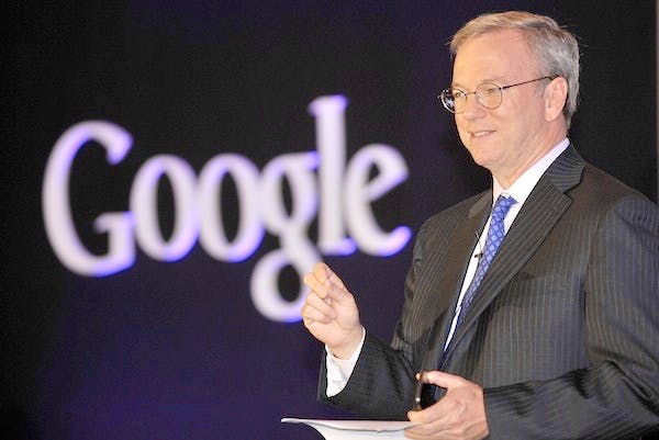 Google Chief Executive Eric Schmidt sits on the government's Business Advisory Group. Picture: Getty
