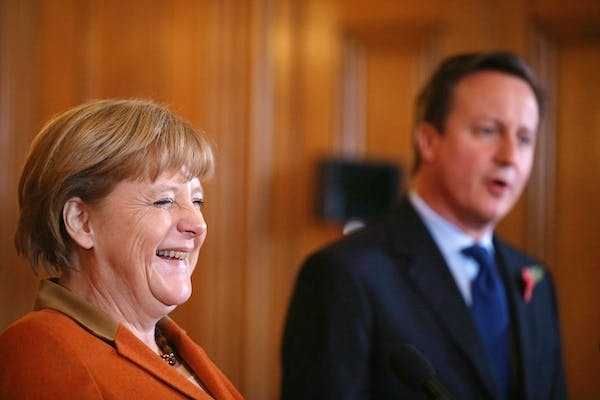 Government sources were relieved that Angela Merkel's reaction to Cameron's speech suggested that a renegotiation was possible. Picture: Getty