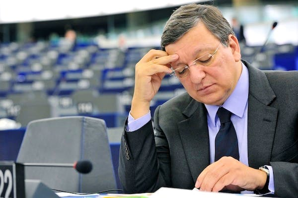 Jose Manuel Barroso's spokesman-in-chief took questions from journalists at the European Commission on David Cameron's speech. Picture: Getty