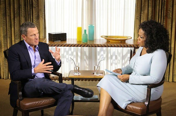 Oprah Interviews Lance Armstrong. Picture: Getty